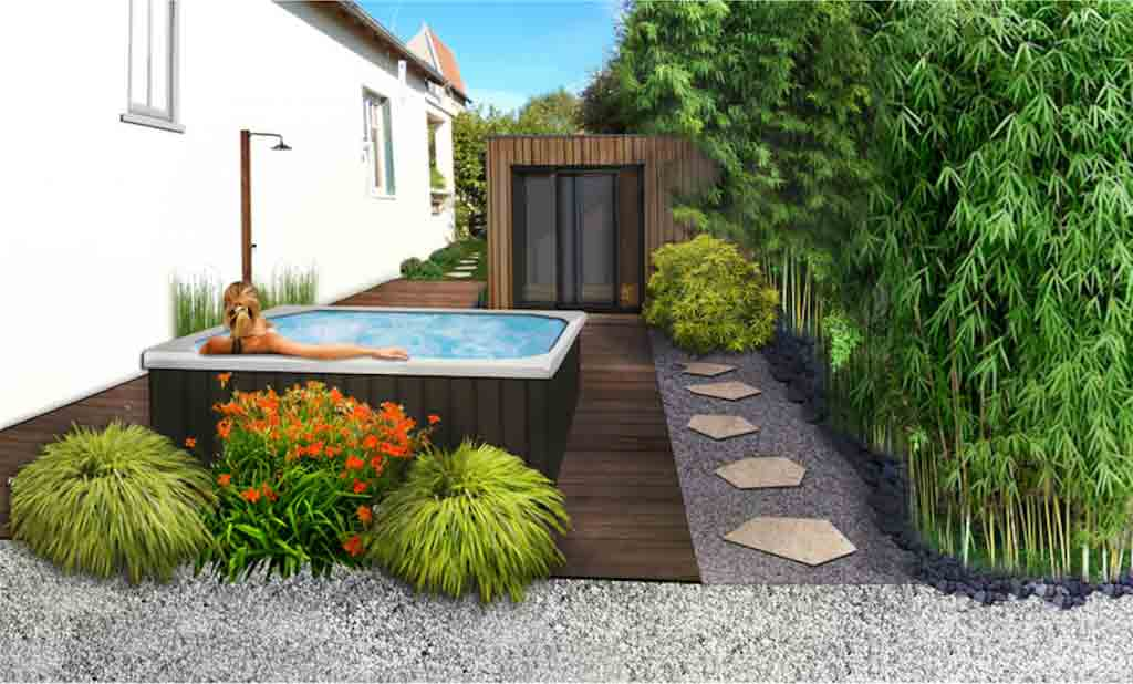 Paysagiste am nagement paysager d 39 un spa ext rieur 77 for Amenagement d un jardin