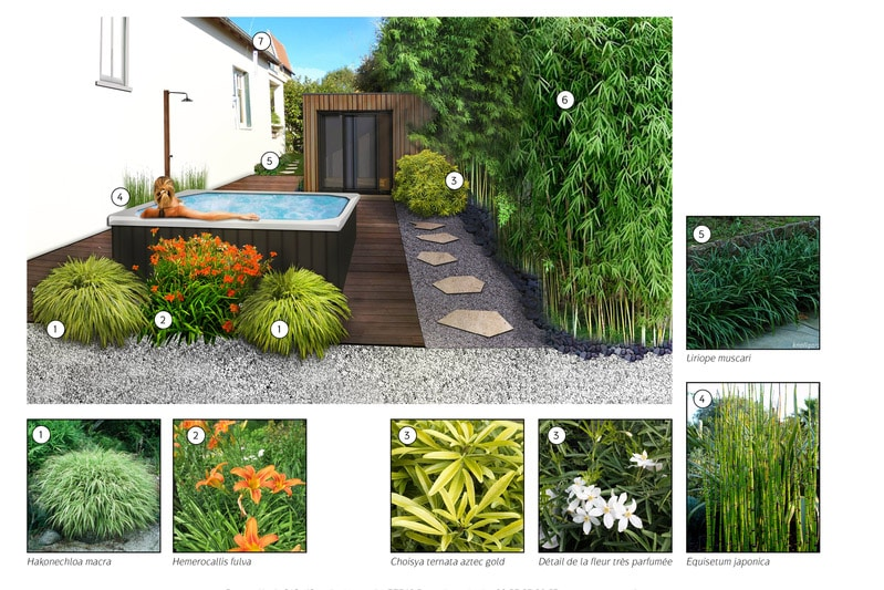 Paysagiste am nagement paysager d 39 un spa ext rieur 77 for Amenagement jardin 77